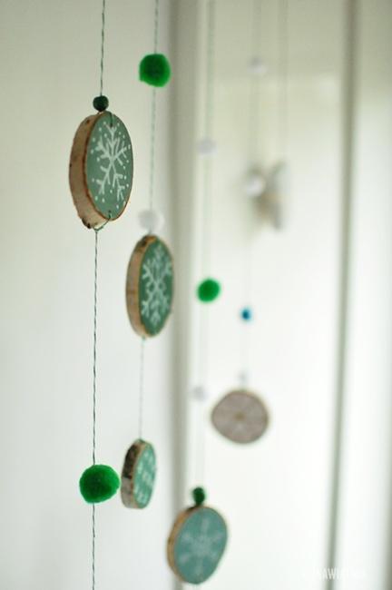 dekoracja z talarków