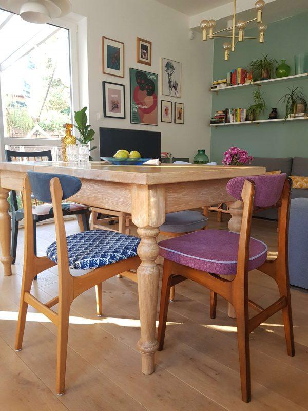 krzesła prl jadalnia