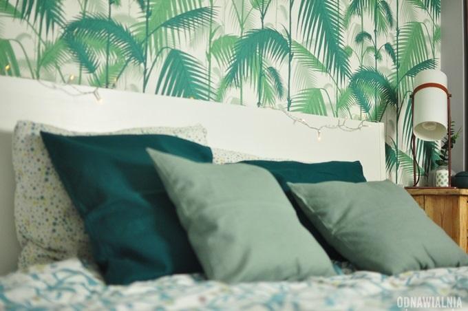 sypialnia zielone dodatki