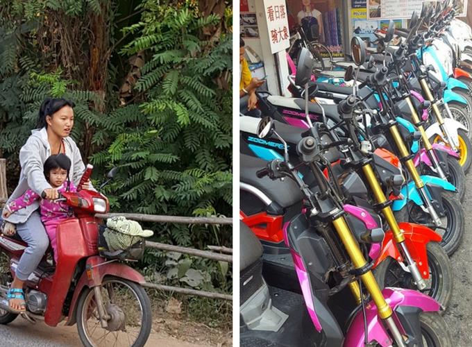 Pai tajlandia na skuterach