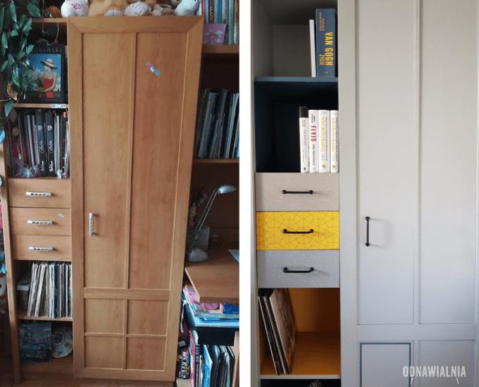 metamorfoza meblościanki szafka przed i po
