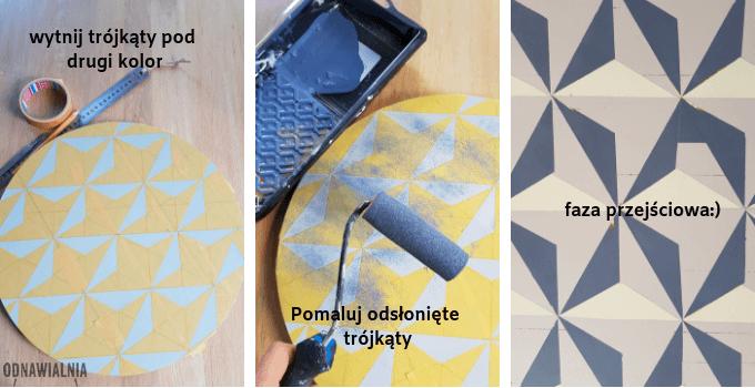 malowanie wzorów na meblu