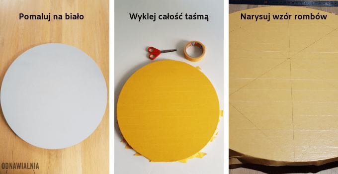jak zrobić wzory z taśmy malarskiej