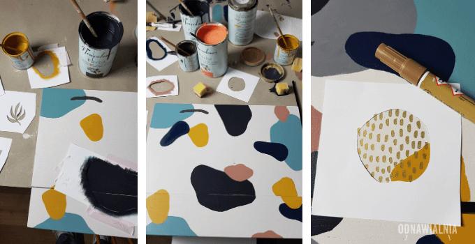 wzory na meblach DIY