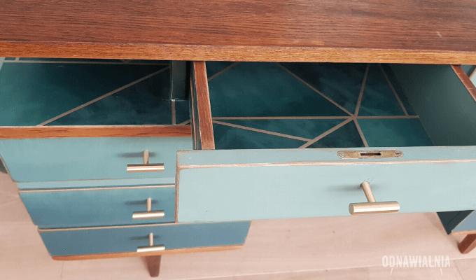 biurko ombre malowanie mebli