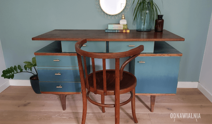 biurko malowane ombre