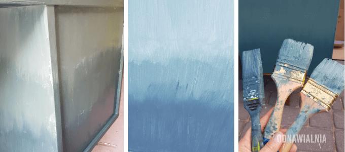 malowanie ombre biurko pierwsza warstwa