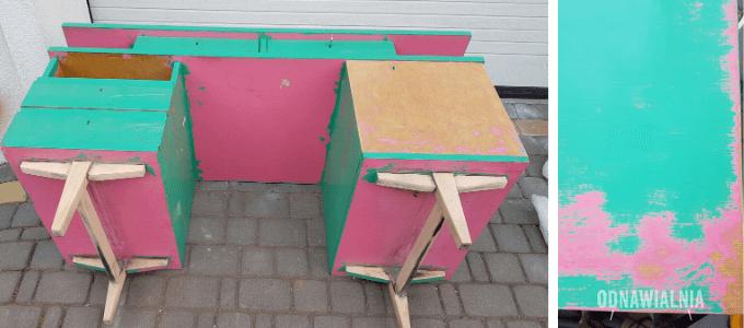 powierzchnia pod malowanie ombre biurko