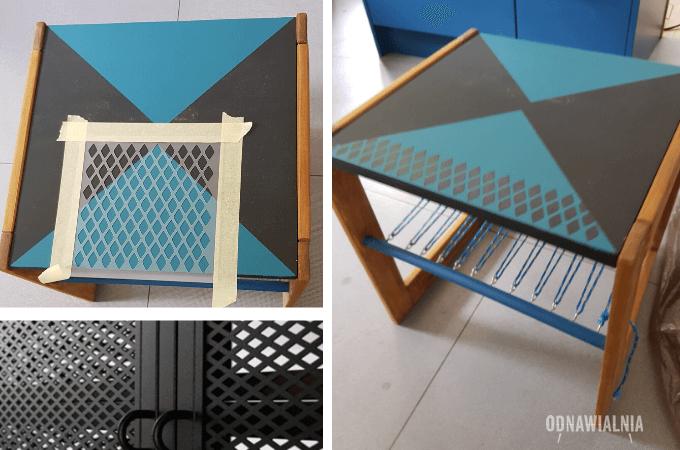 metamorfoza stolika malowanie mebli
