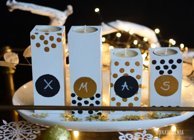 dekoracje świąteczne świeczniki