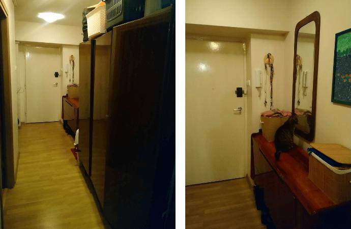korytarz w bloku przed