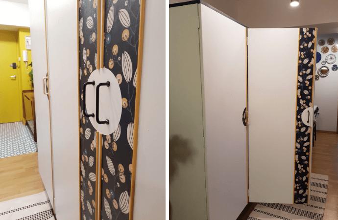 tapetowanie szafy