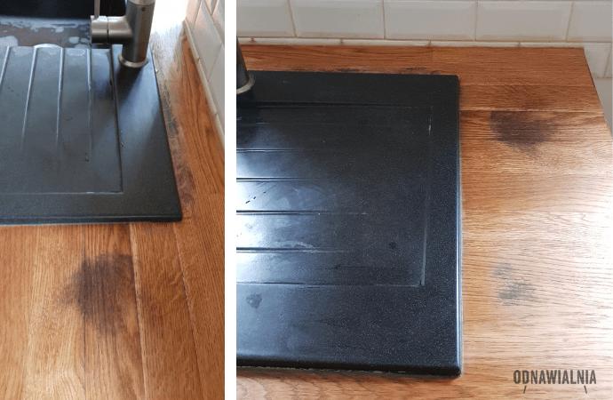 jak usunąć plamy z blatu w kuchni