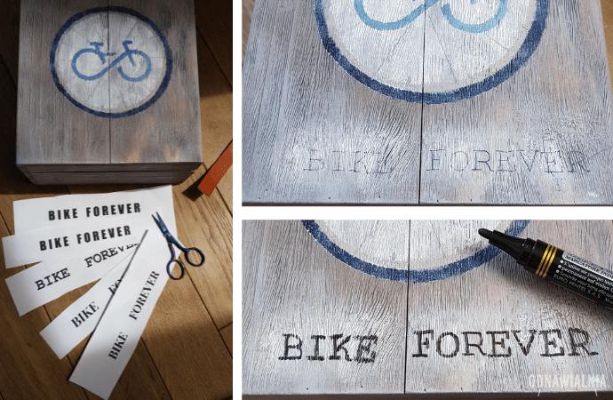 jak zrobić napis na drewnie