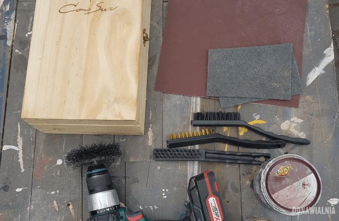 postarzanie drewna narzędzia