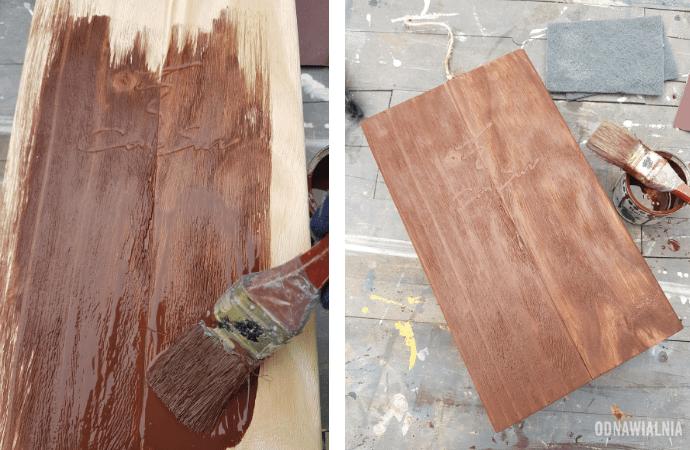 postarzanie drewna bejcą